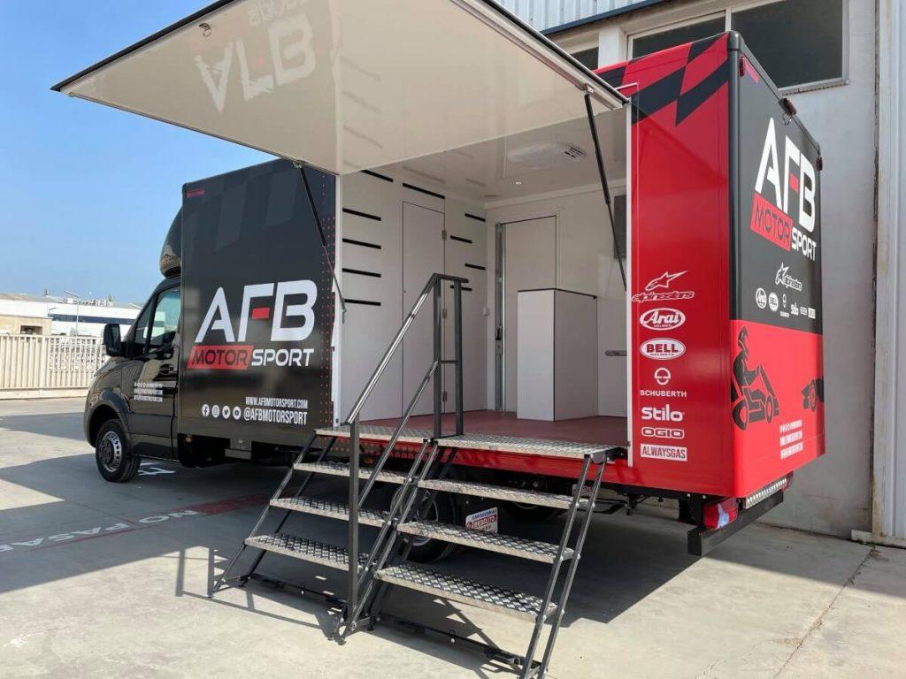Camión tienda AFB Motorsport