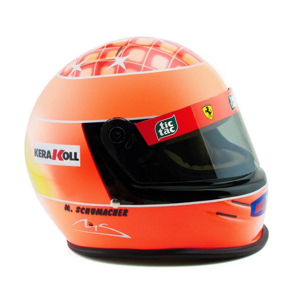 Detalles del Mini Helmet Michael Schumacher GP JAPAN 2000