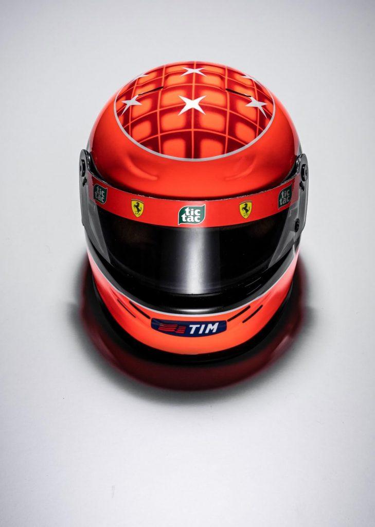 Vista superior Michael Schumacher Mini Helmet 2000