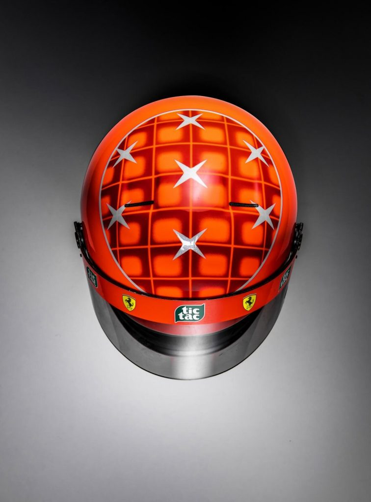 Mini Helmet Michael Shcumacher JAPAN 2000 escala 1:2