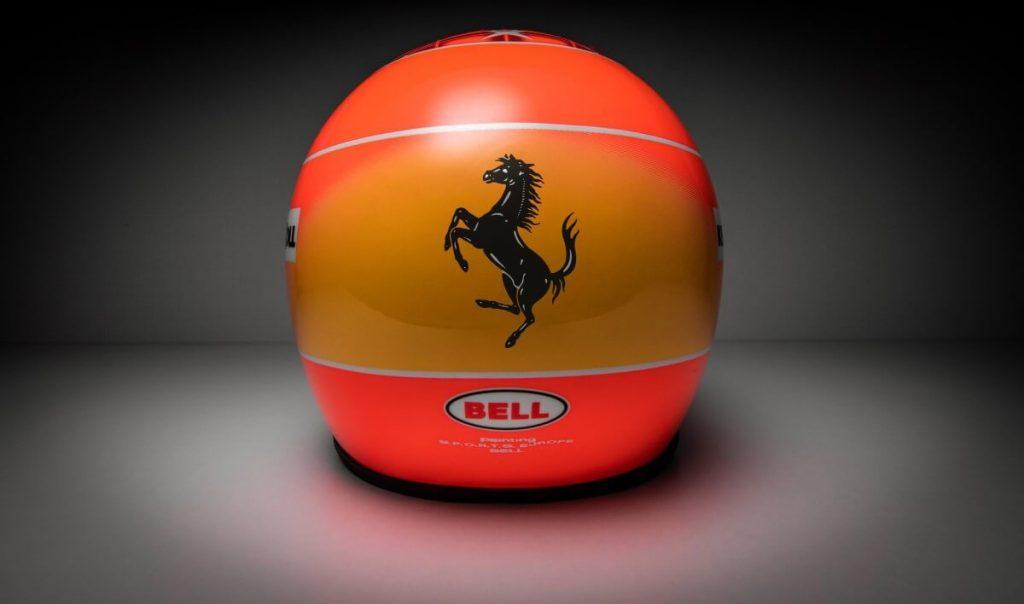 Vista trasera Michael Schumacher Mini Helmet 2000
