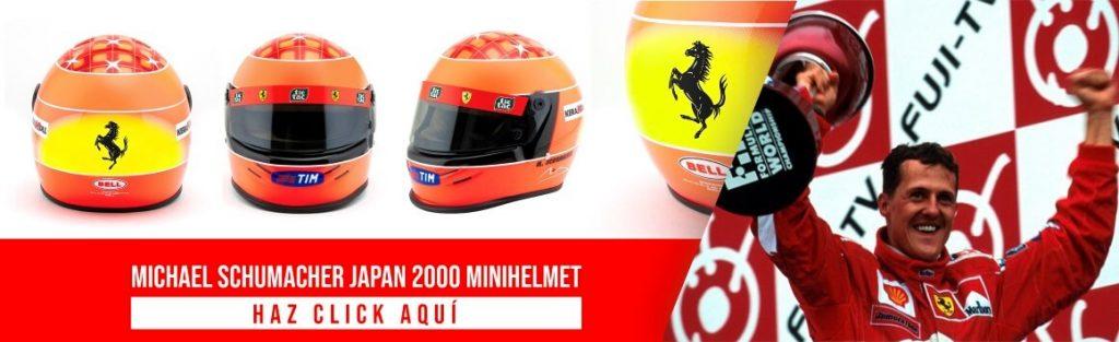 Michael Schumacher Scale Helmet 1:2 Japan 2000